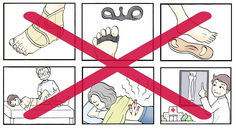 市販の足指パッド、整体、鍼、カイロ、サポーター、インソール,指リング、整形外科とは、全然違います。